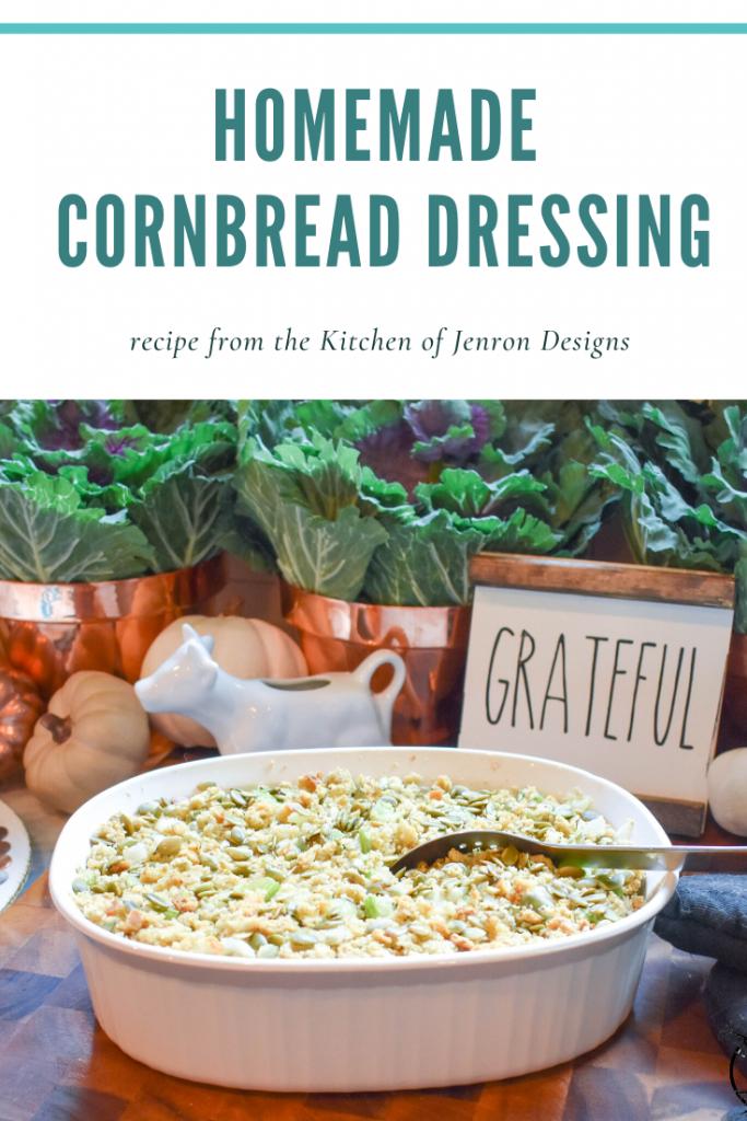 Homemade Cornbread Dressing JENRON DESIGNS