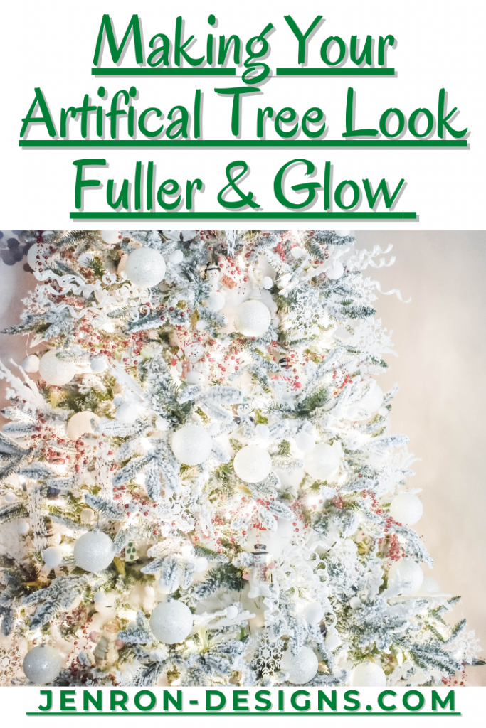 Making Artifical Tree Look Fuller & Glow JENRON DESIGNS