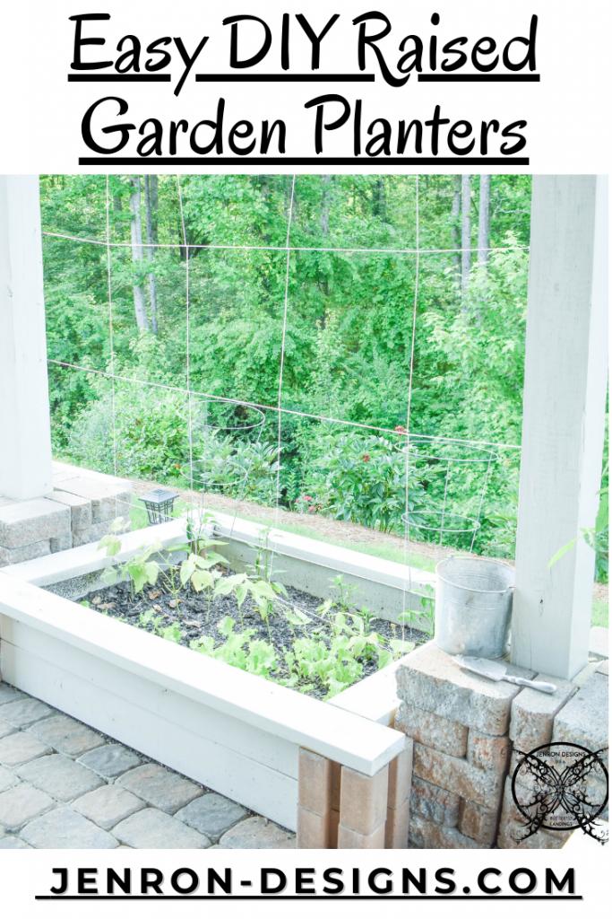 Easy DIY Raised Garden Planters JENRON DESIGNS