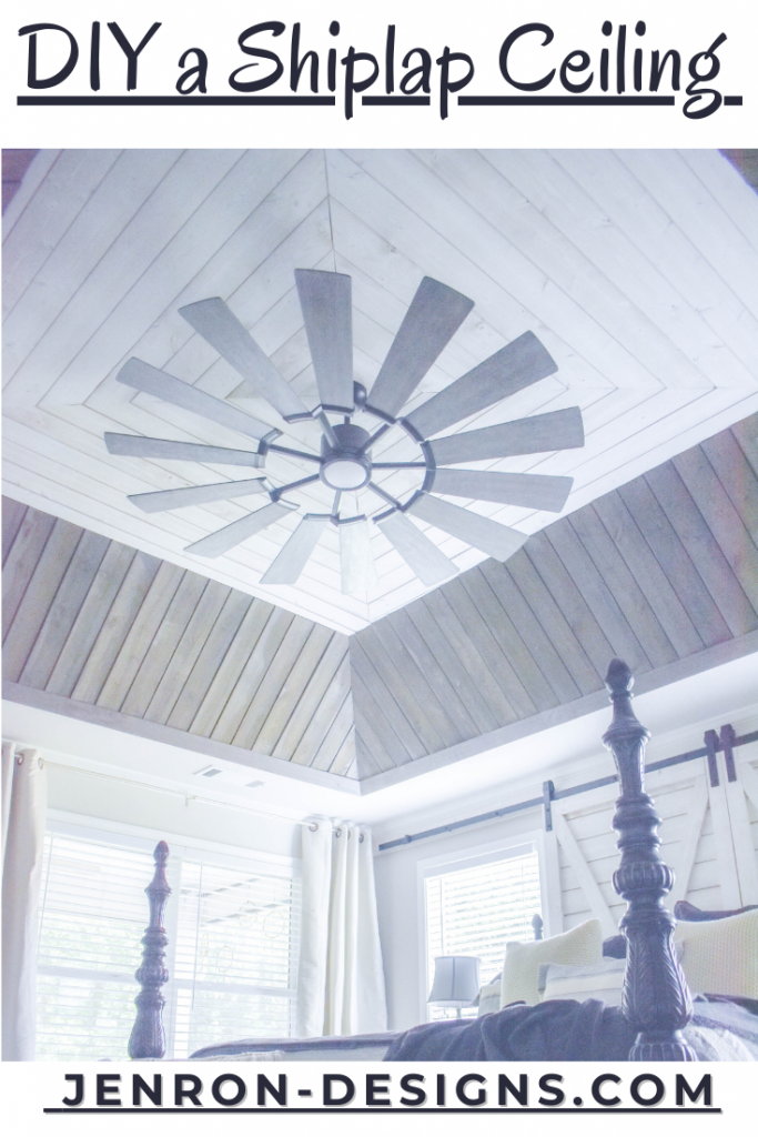 DIY Shiplap Decorative Ceiling JENRON DESIGNS