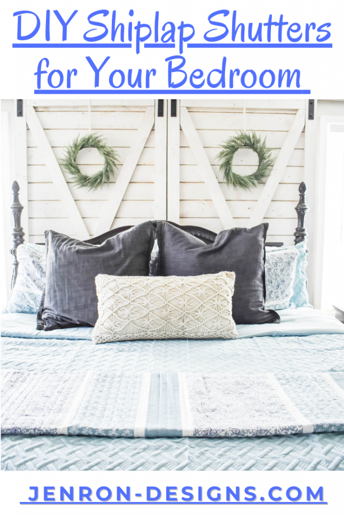 DIY Shiplap Shutter For your Bedroom JENRON DESIGNS