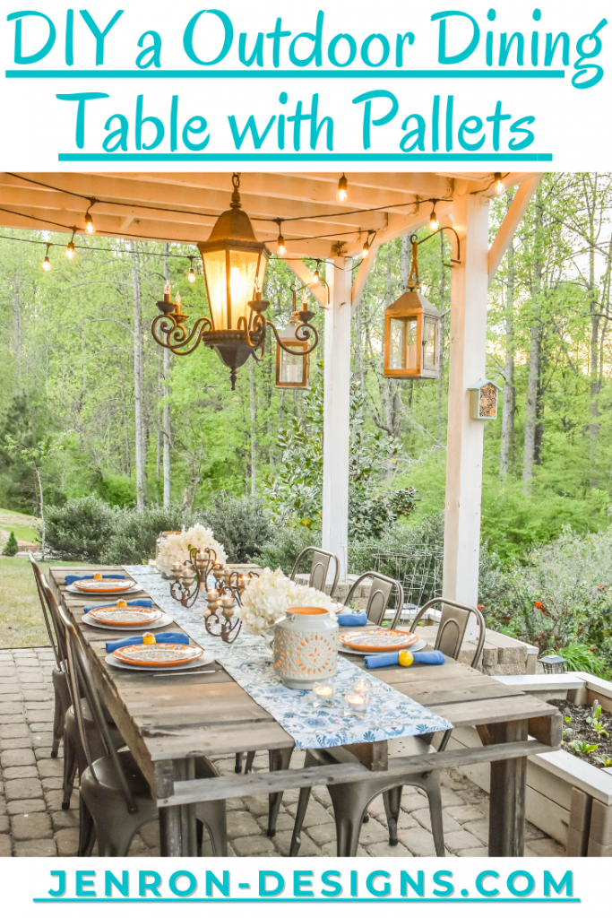 DIY an Outdoor Dining Table with Pallets JENRON DESIGNS