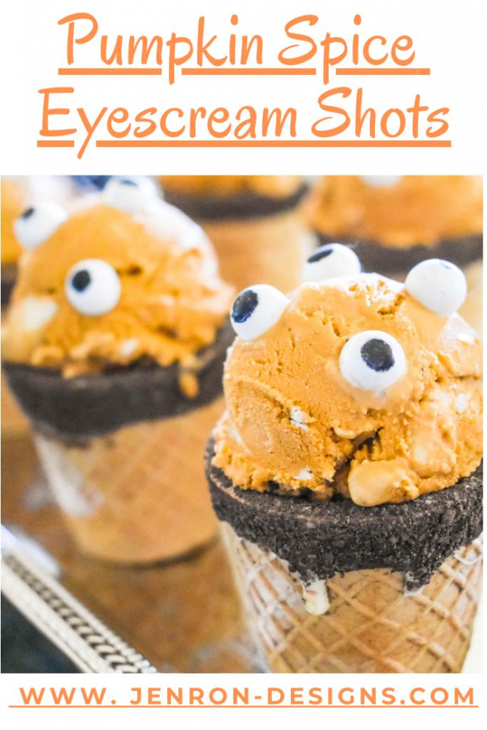 Pumpkin Spice Ice Cream Shots Jenron Designs