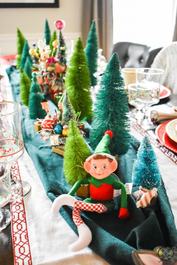 Elf & Bottle brush tree table JENRON DESIGNS