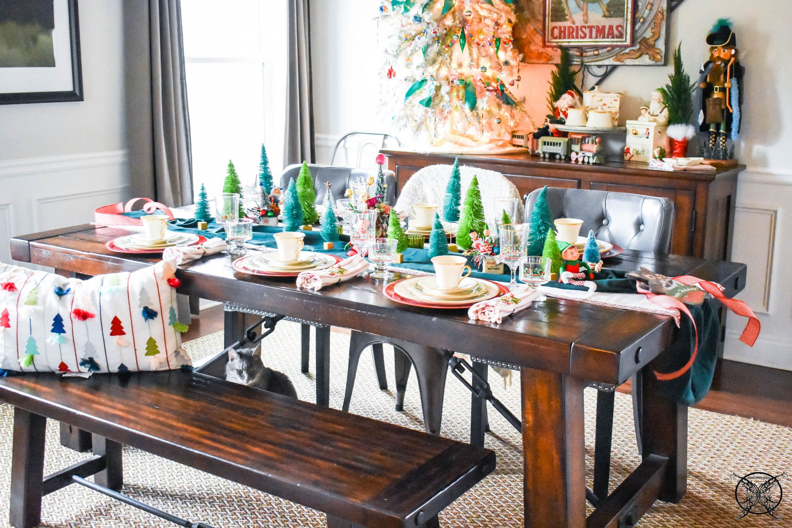 Feature Dining Room Tablescape Christmas JENRON DESIGNS