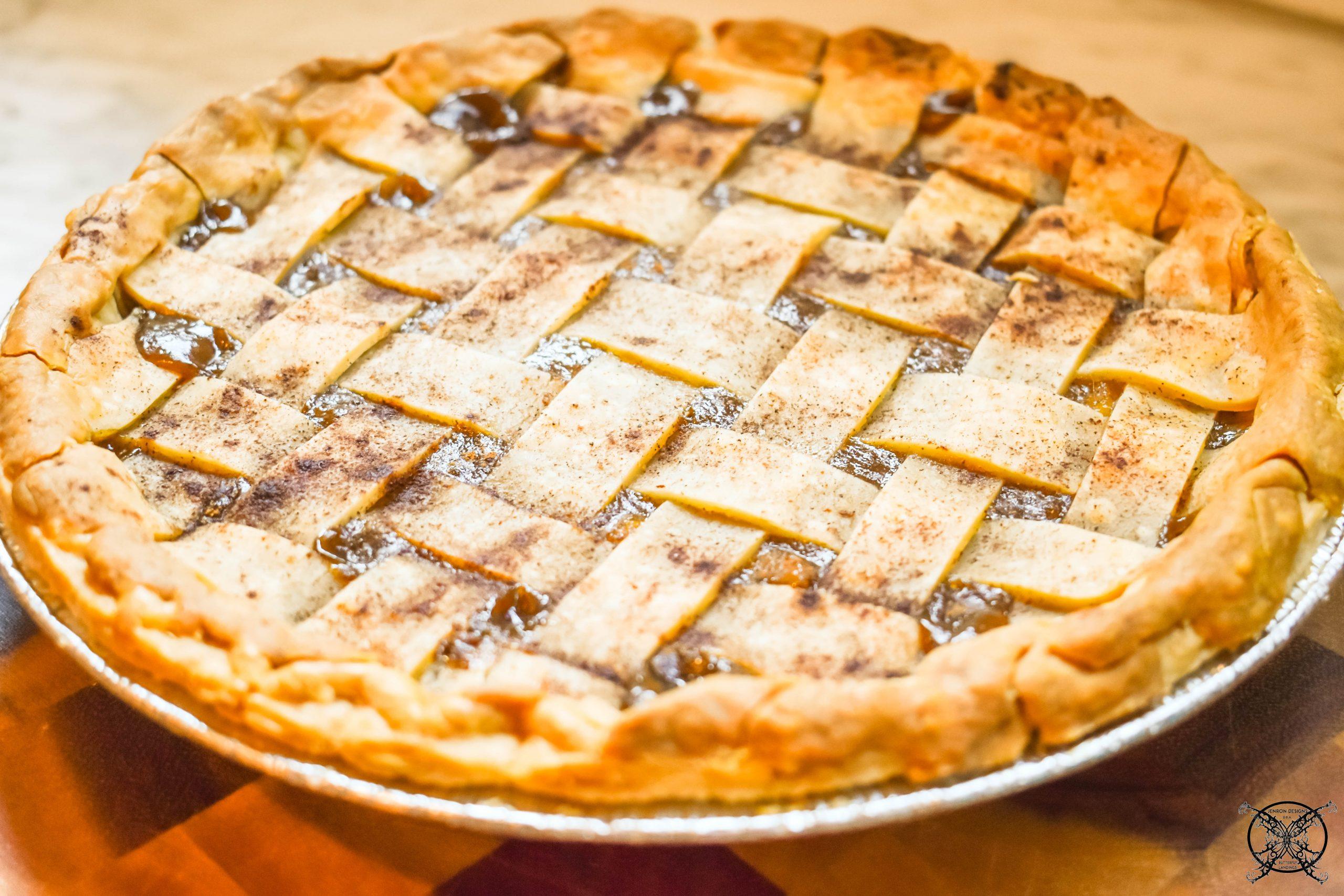Lattice Top Caramel Pear Pie JENRON DESIGNS