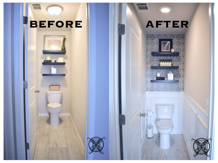 $100 Room Challenge Before:After Tolite Room JENRON DESIGNS