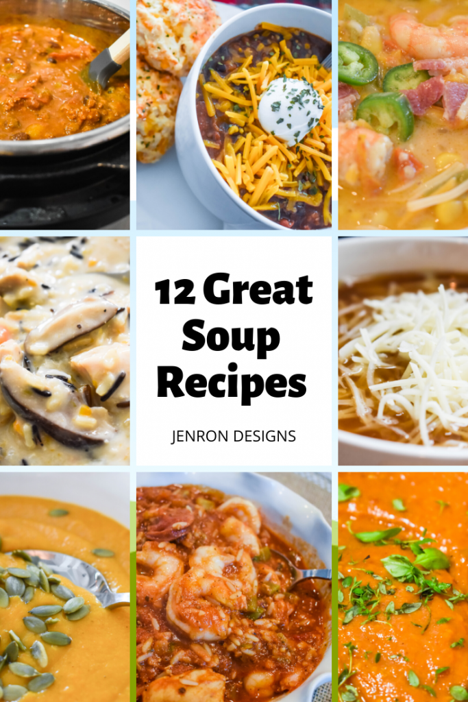 12 Great soup recipes JENRON DESIGNS