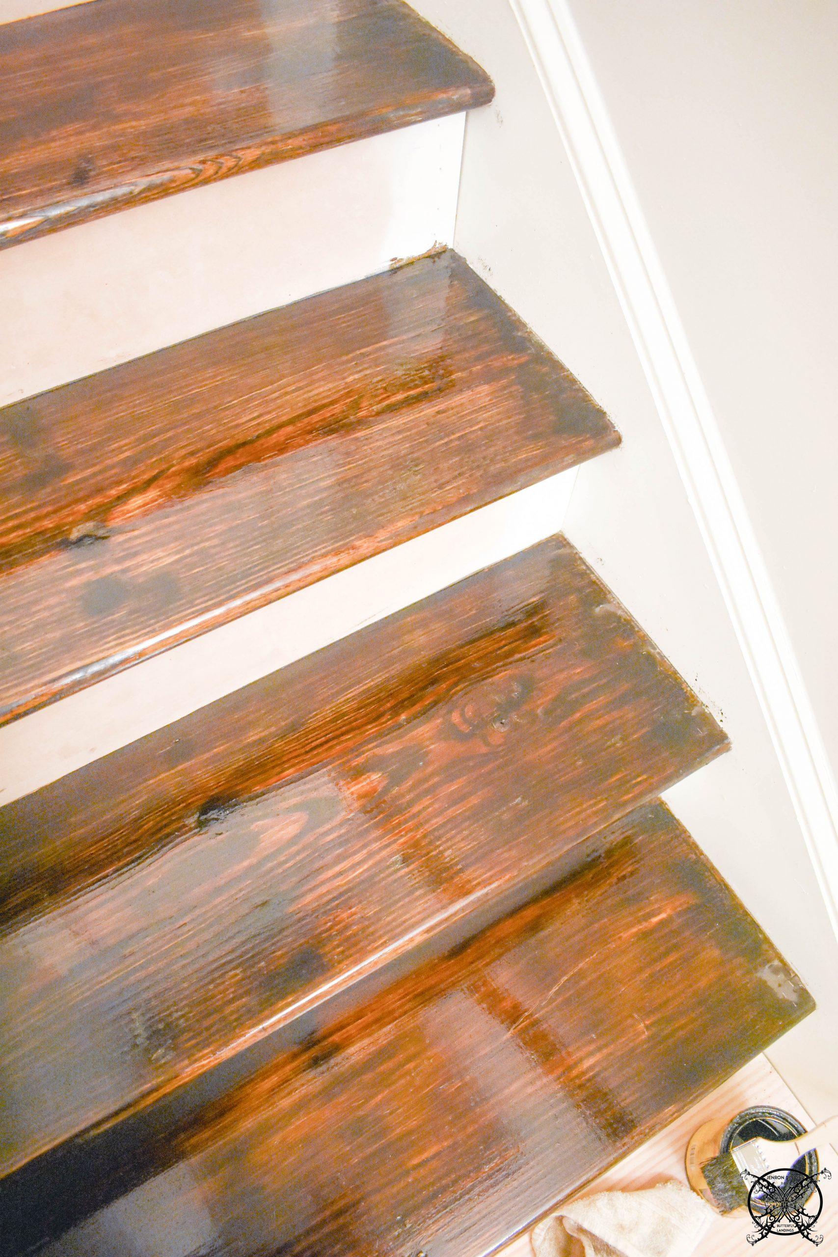 Stained Stair Treads JENRON DESIGNS