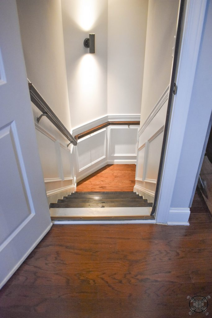 Stair Landing Matching the Family Room JENRON DESIGNS