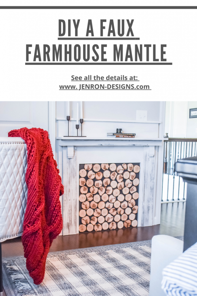 DIY FAUX FARMHOUSE MANTLE JENRON DESIGNS