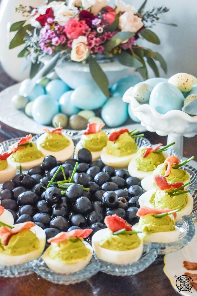Easter Avocado Deviled Eggs JENRON DESIGNS
