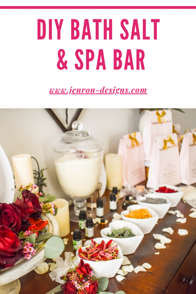 Host A DIY Spa Bar Party JENRON DESIGNS