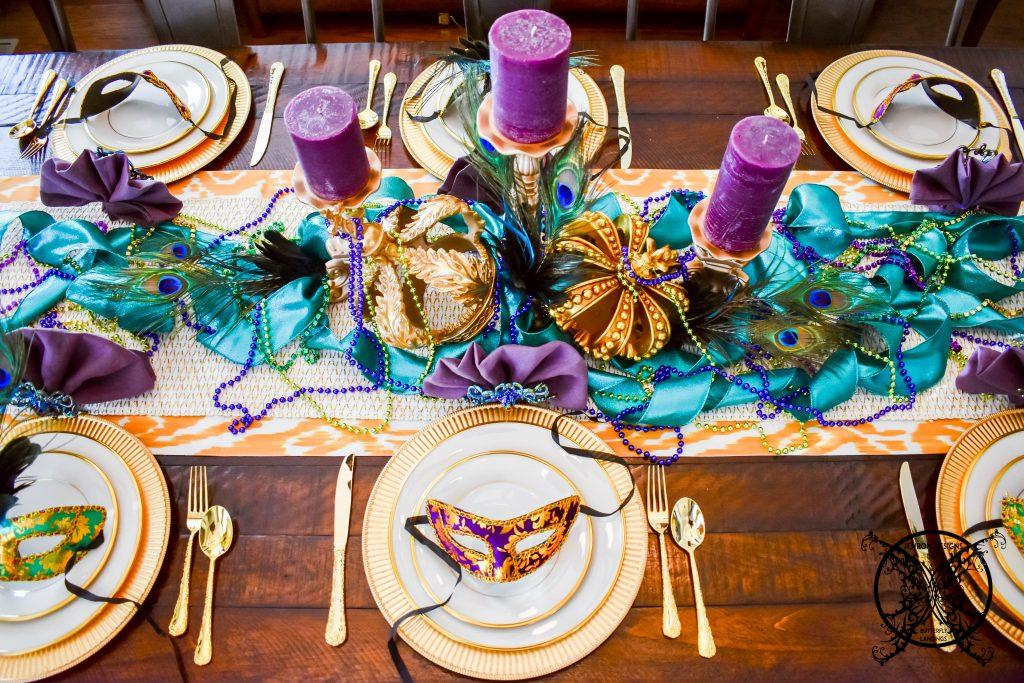 Mardi Gras Tablescape JENRON DESIGNS