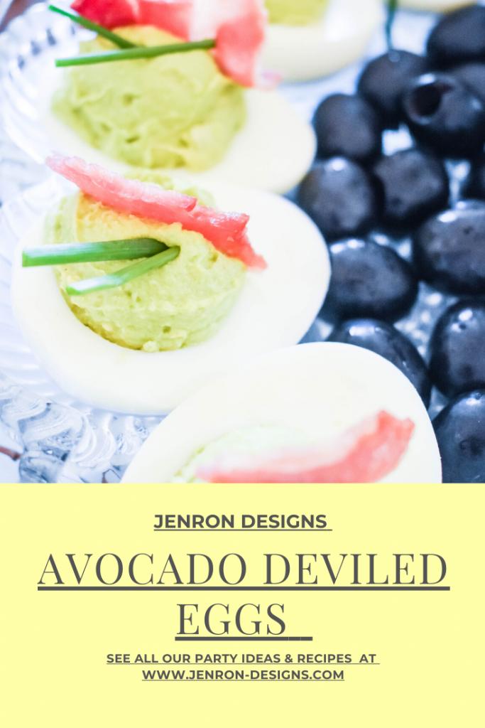 Avocado Deviled Eggs JENRON DESIGNS Pin