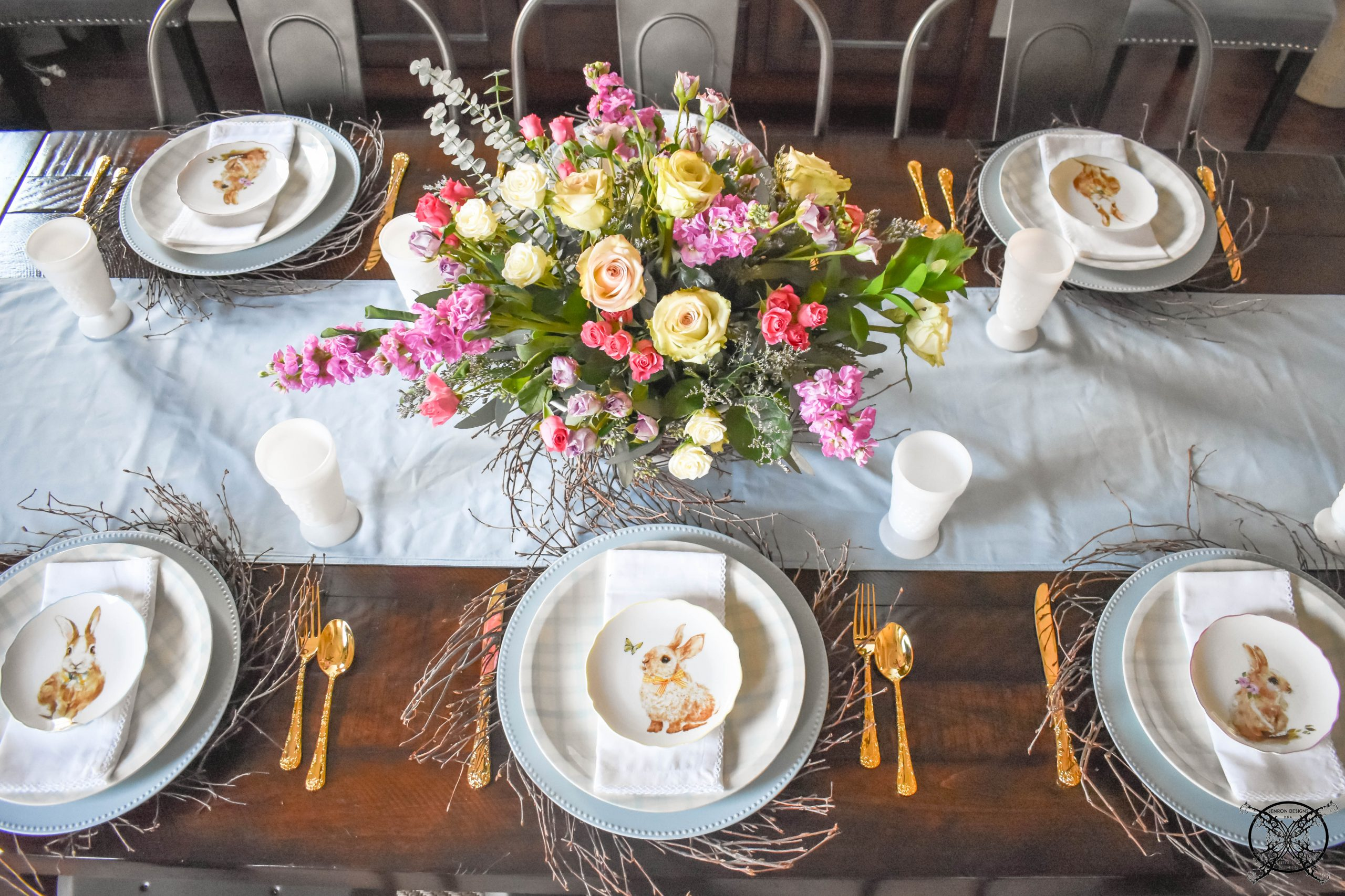 Easter Tablescape JENRON DESIGNS