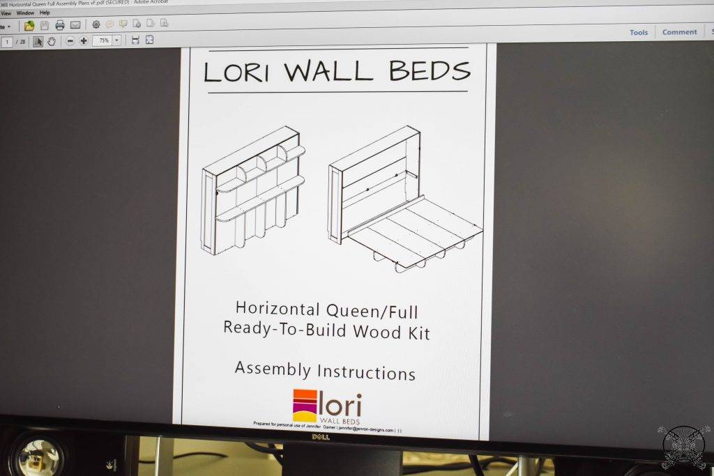 Lori Murphy Bed directions Jenron Designs