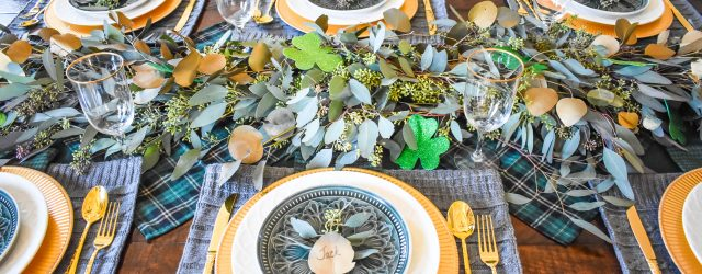 Tablescape of St.Patricks Day JENRON DESIGNS