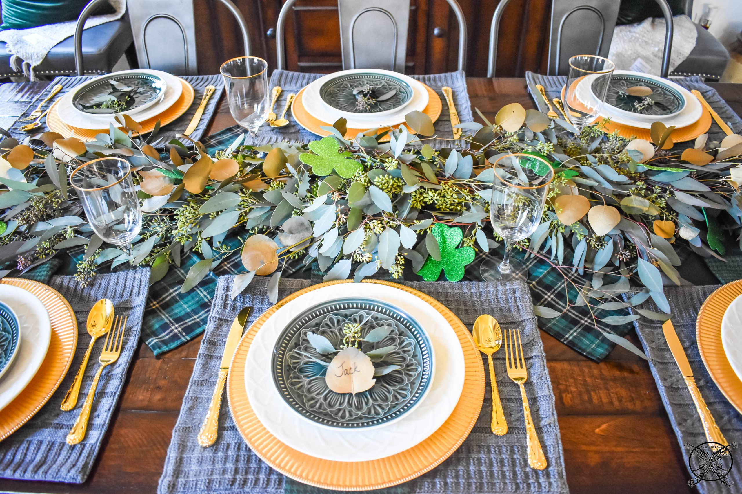 Tablescape of St.Patricks Day JENRON DESIGNS