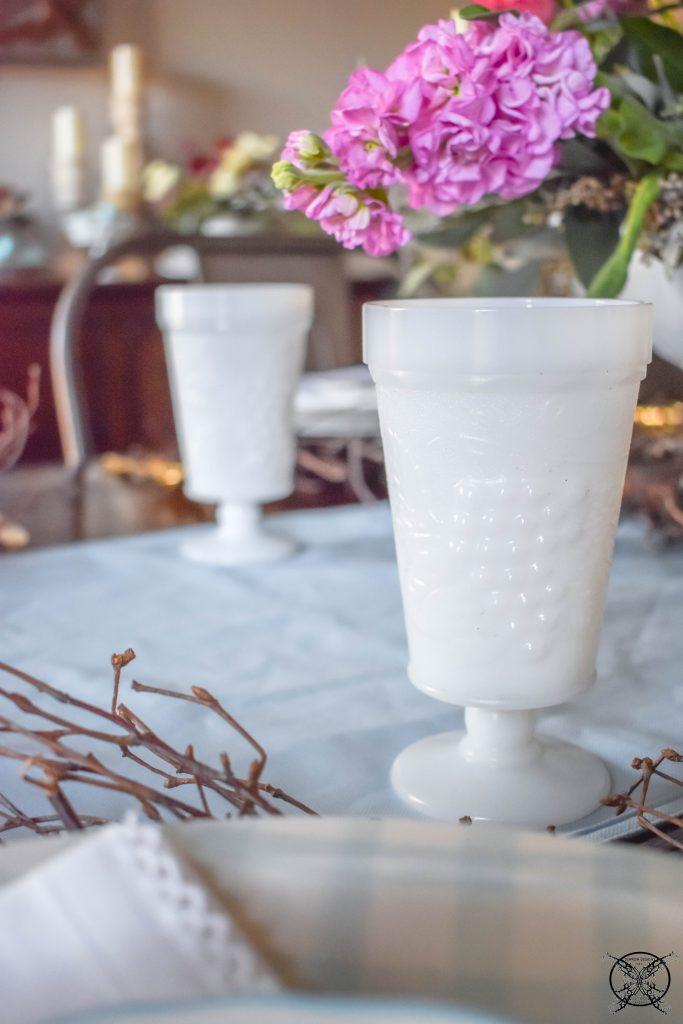 Vintage Milkglass Goblets JENRON DESIGNS