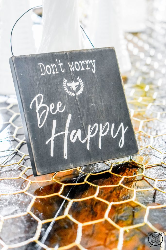 DIY Beehappy Tablescape JENRON DESIGNS