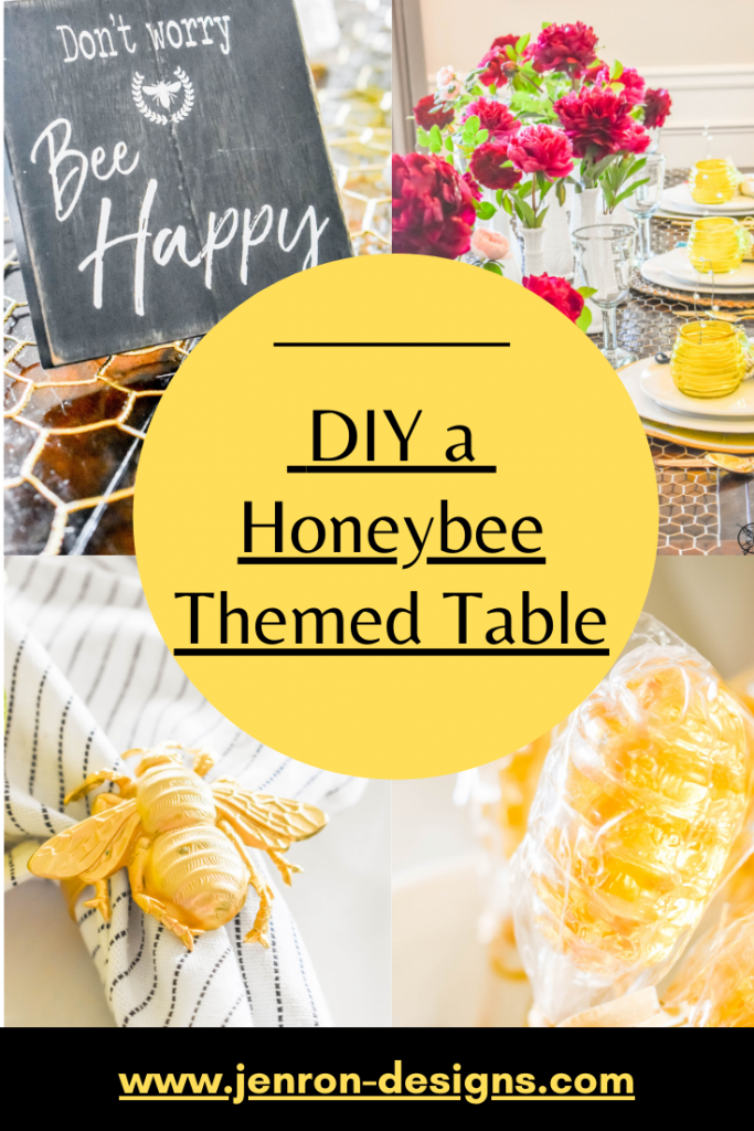 Honeybee Tablescape Pin Jenron Designs