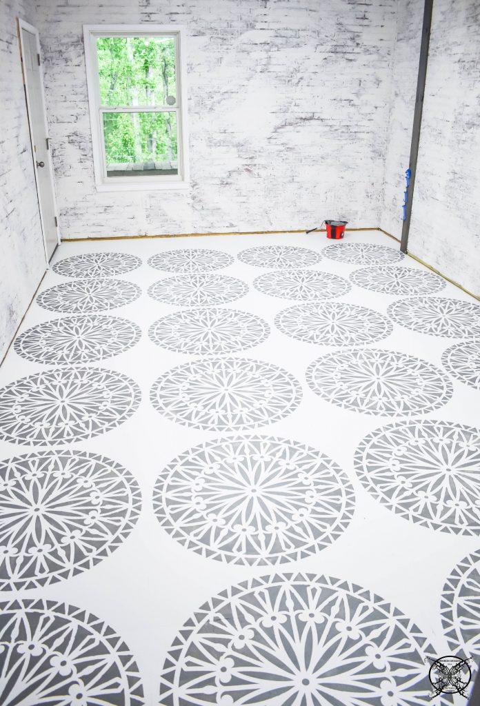 After Floor Concrete Paint & stencils JENRON DESIGNS.