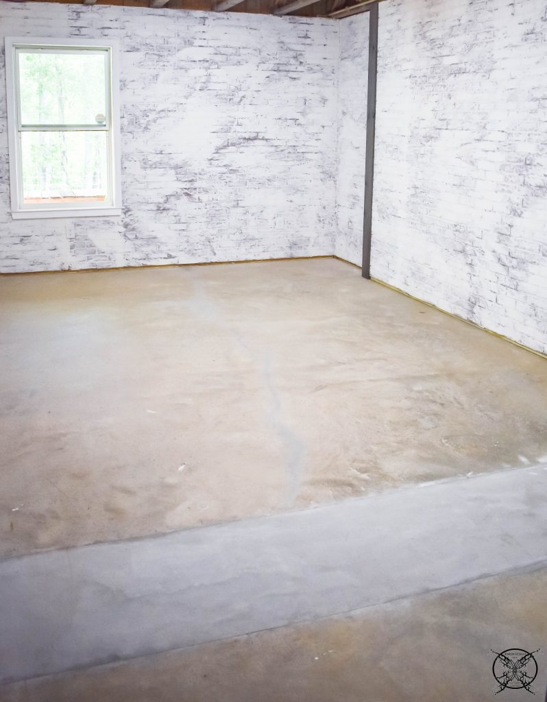 Before Concrete Floors JENRON DESIGNS