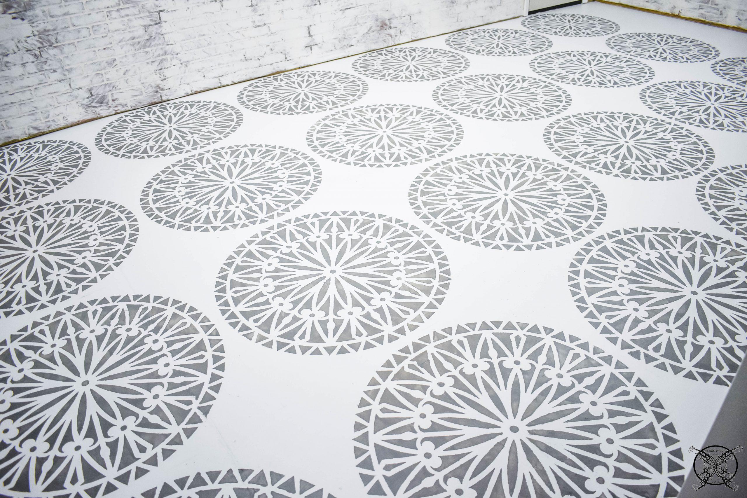 Concrete Paint Stencil JENRON DESIGNS.