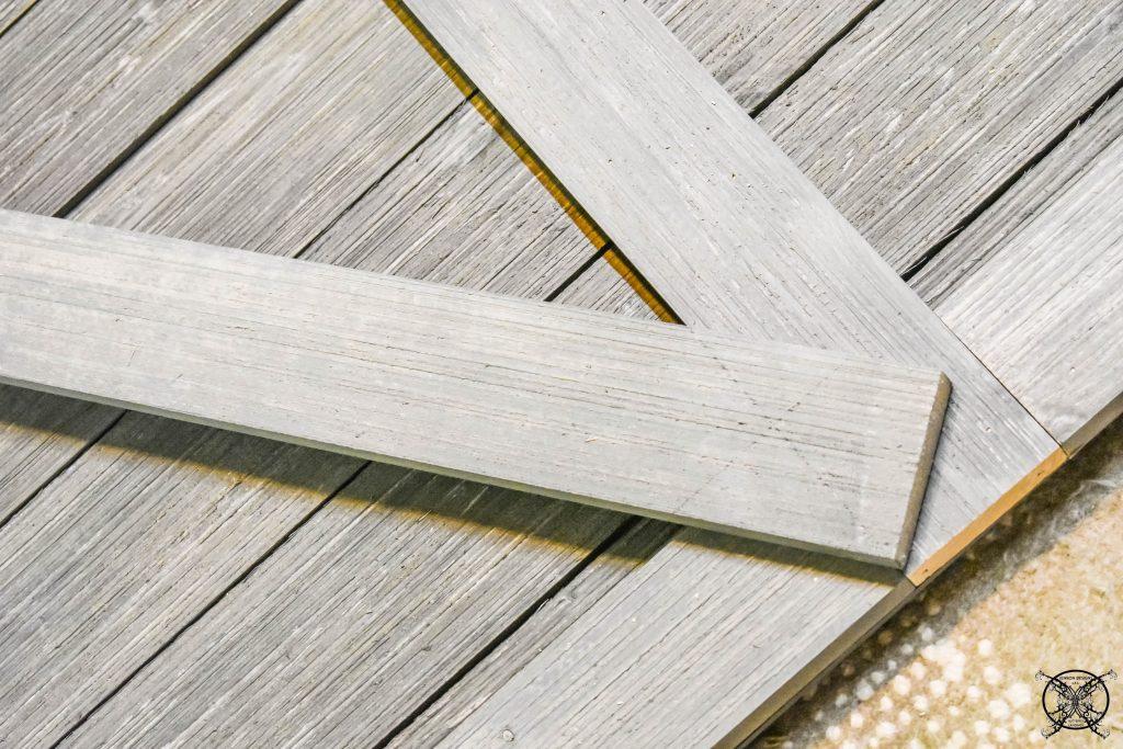 Cross beams of a Barn Door JENRON DESIGNS