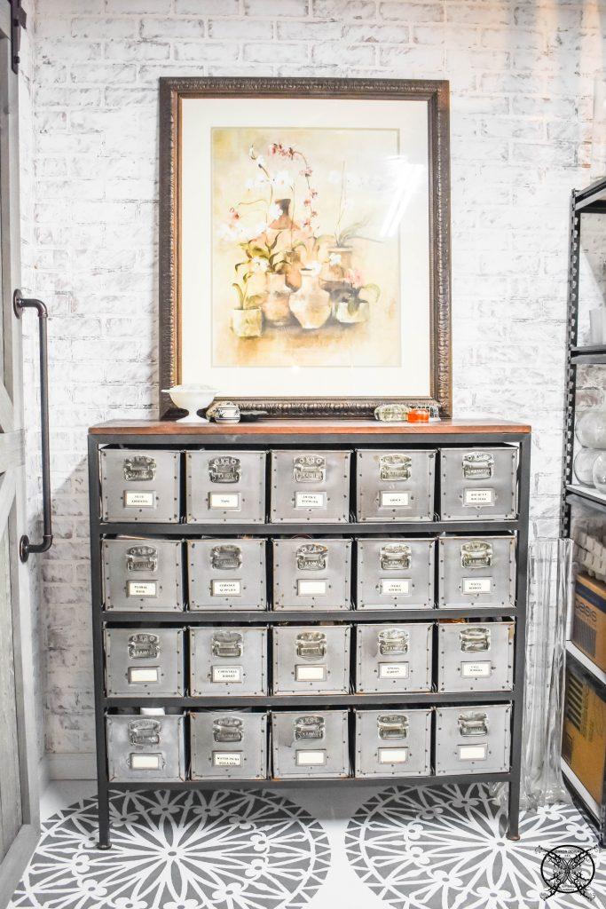 Flower Shop Storage in Basement JENRON DESIGNS