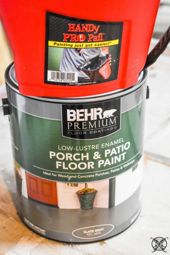 Painting Concrete Floor Stencil JENRON DESIGNS
