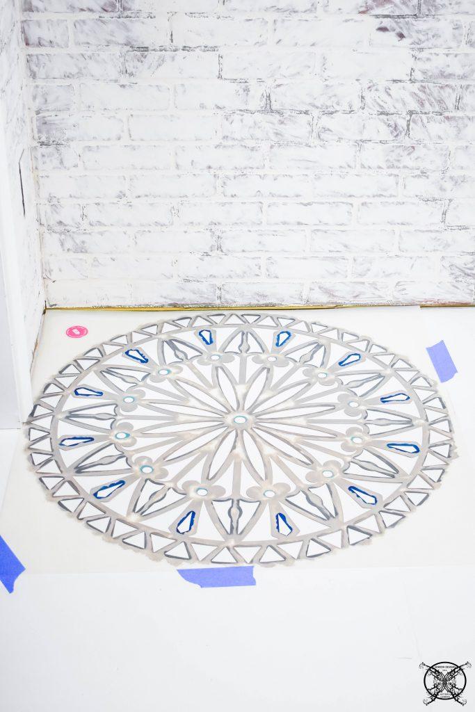 Stenciling A Floor Concrete JENRON DESIGNS.