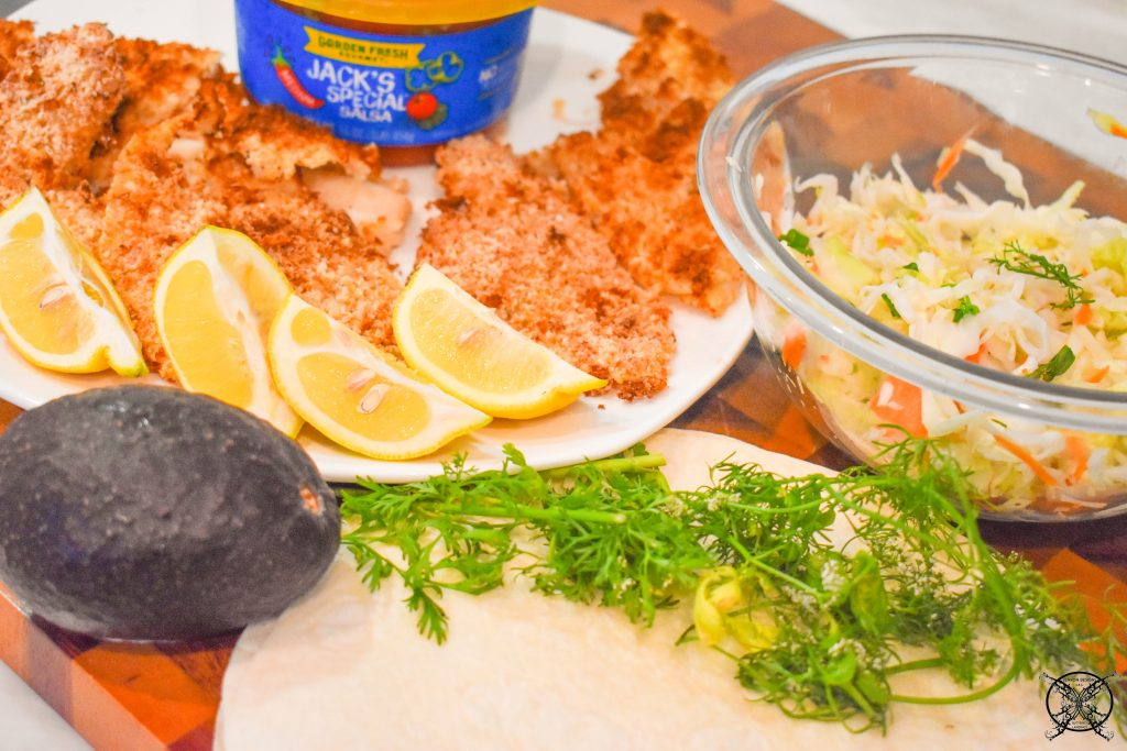 Baha Fish Tacos Ingrediants JENRON DESIGNS