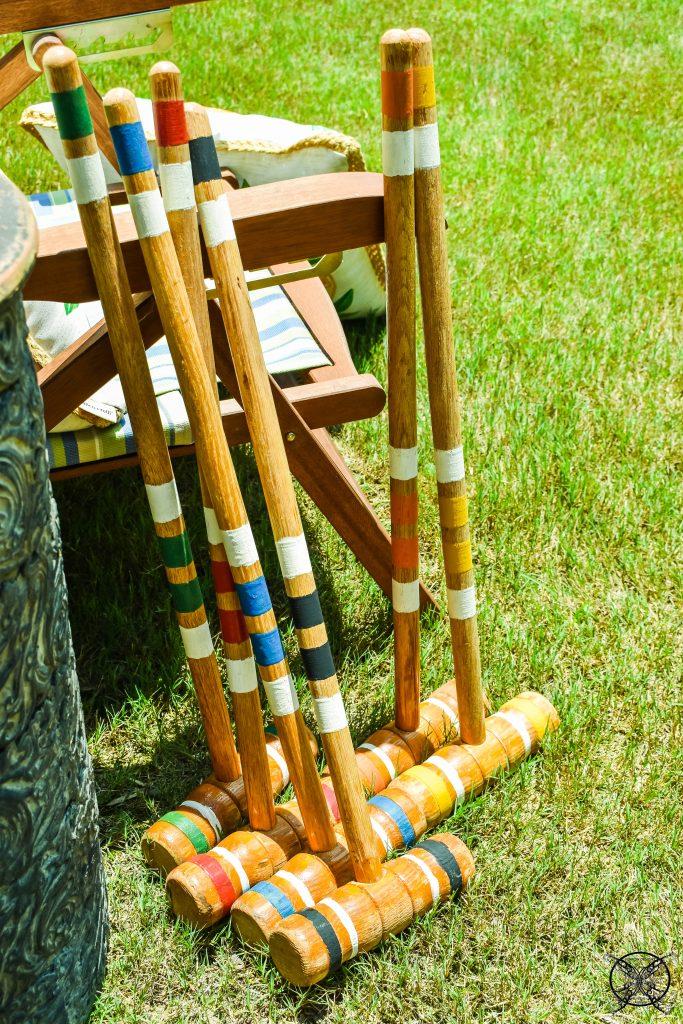 Vintage Croquet Mallets JENRON DESIGNS
