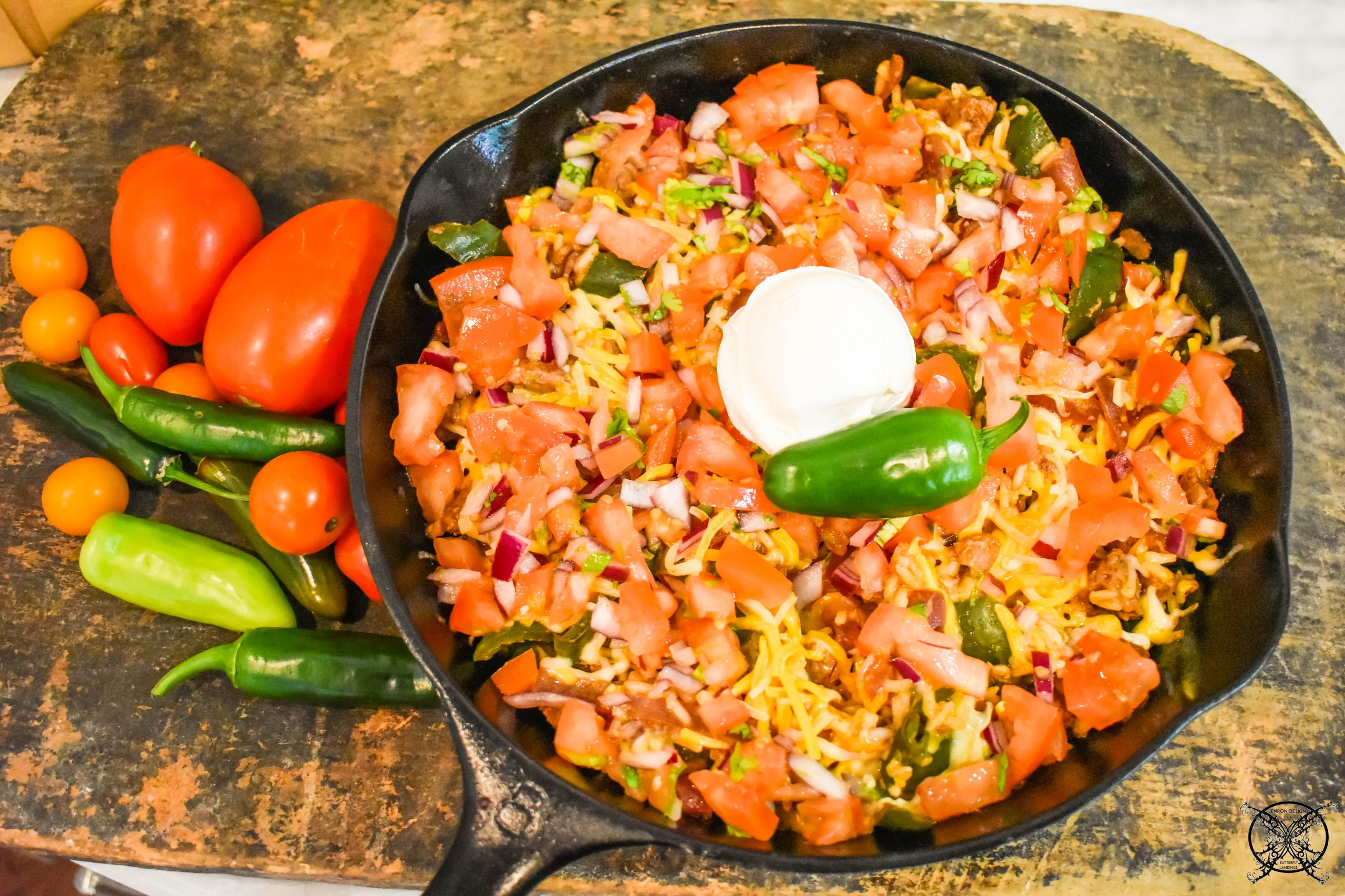 Easy Fajita Rice Bake in Cast Iron JENRON DESIGNS