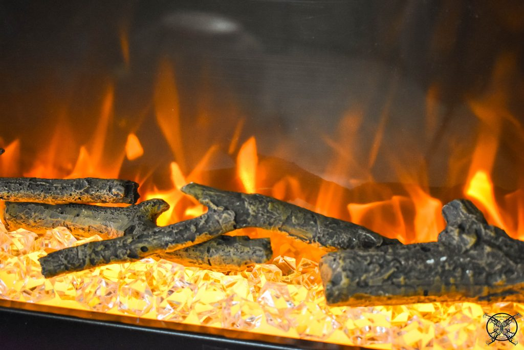 Fireplace Orange Flames JENRON DESIGNS