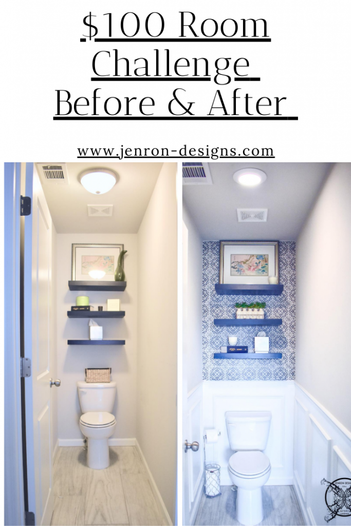 100 Room Challenge JENRON DESIGNS Toilet Room
