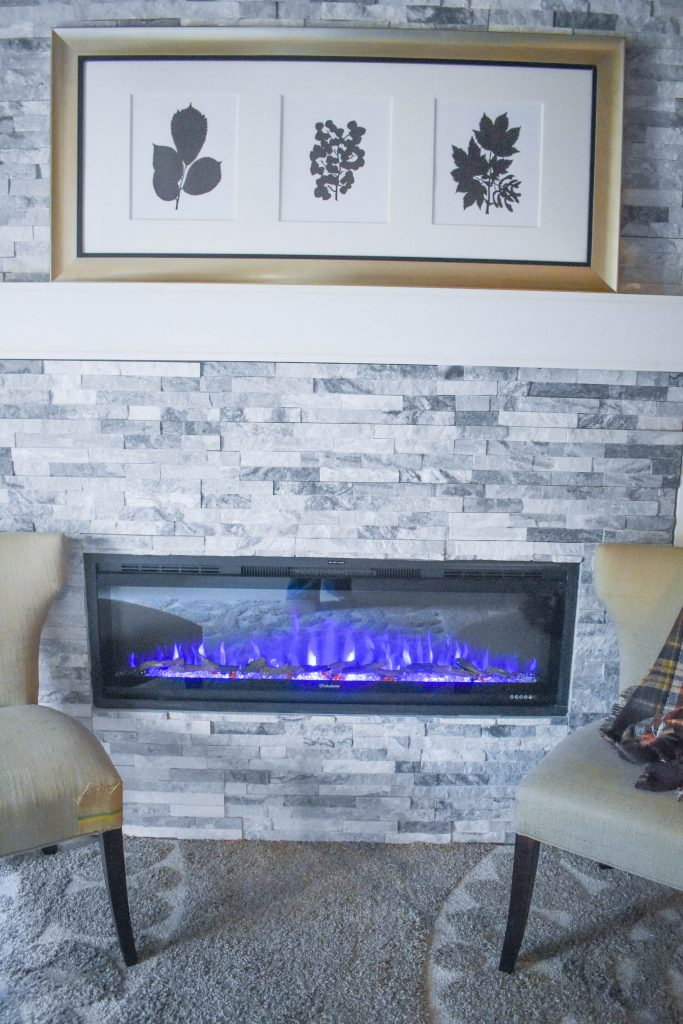 50 Valuxhome Electric Fireplace Blue Flames JENRON DESIGNS