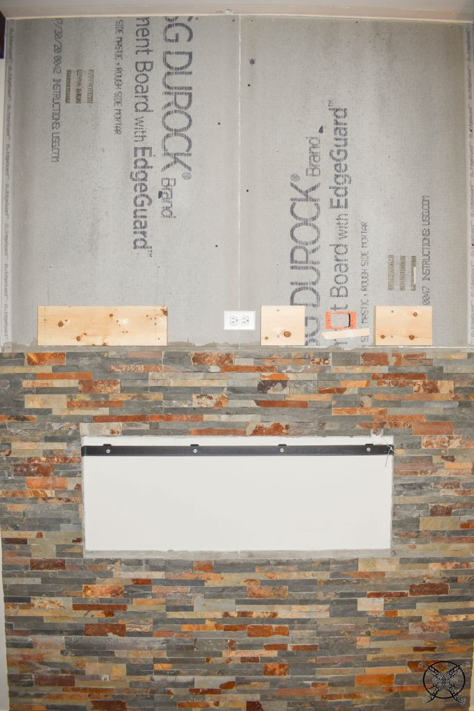 Adding Mantle Stone for Fireplace Wall JENRON DESIGNS