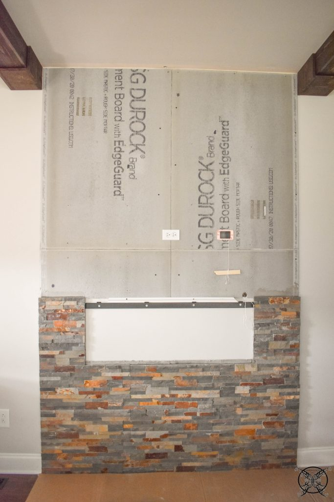 Adding Stone Sides for Fireplace Wall JENRON DESIGNS