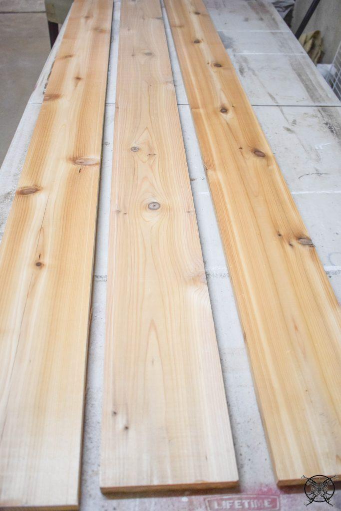 Cedar boards for Mantle JENRON DESIGNS