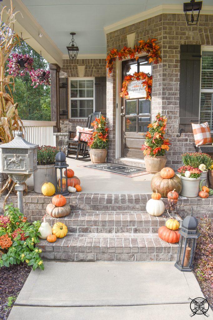 Front Pumpkins & Mums JENRON DESIGNS