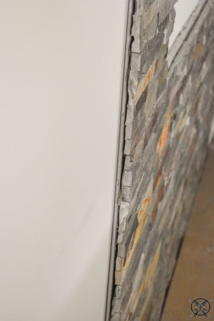 Stone gaps Fireplace Wall JENRON DESIGNS