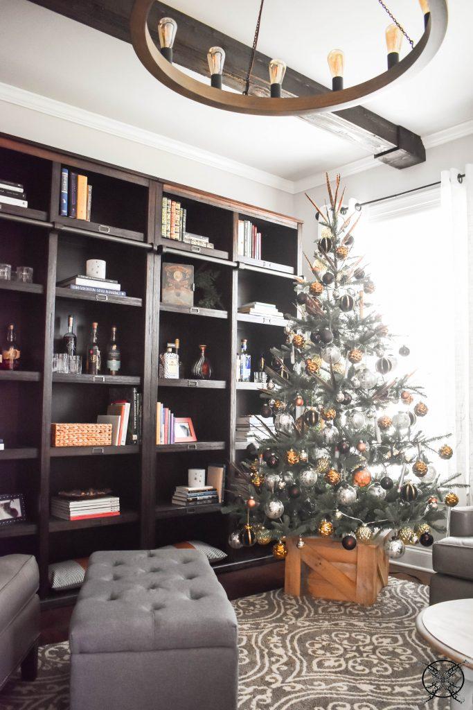 Book & Bourbon Library Merry Gentlemans Christmas Tree JENRON DESIGNS