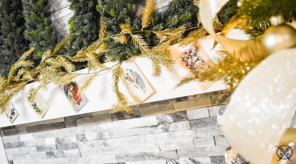 First Noel Vintage Post Card Mantle JENRON DESIGNS