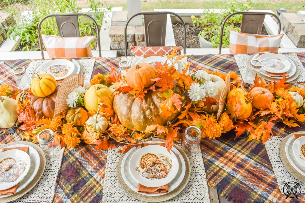 Gracious Outdoor Gathering Table setting JENRON DESIGNS