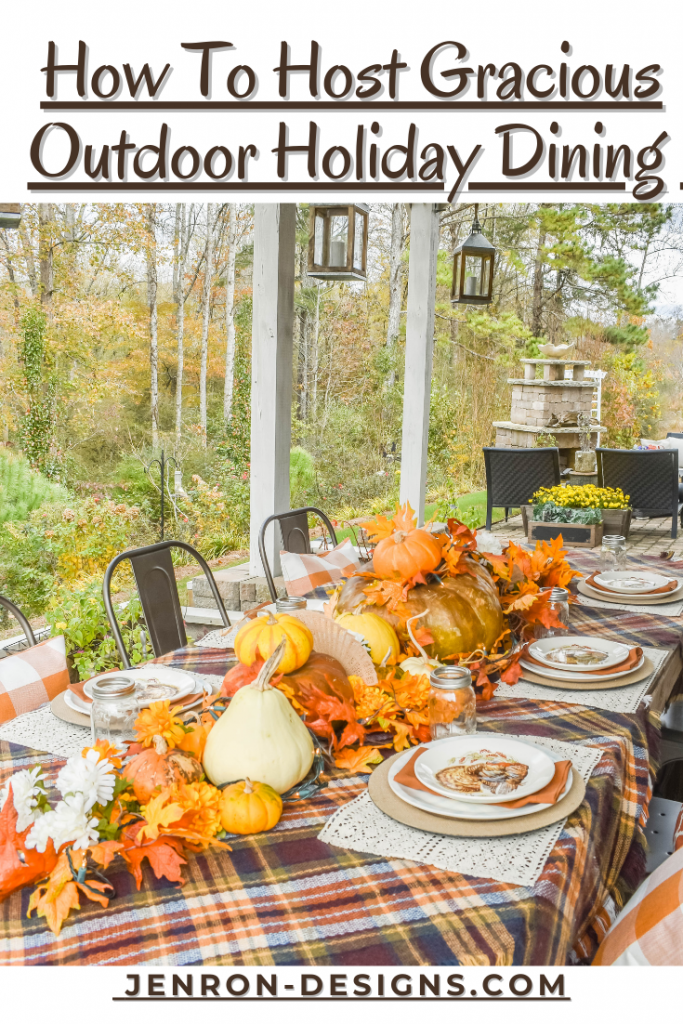Gracious Outdoor Holiday Dining Pin JENRON DESIGNS