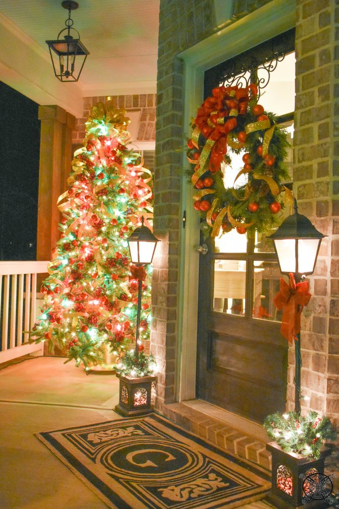 Holly Jolly Christmas Front Porch Lights JENRON DESIGNS