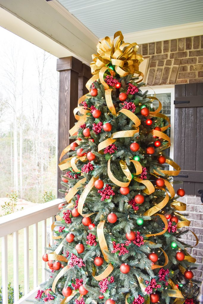 Holly Jolly Front Porch Christmas Tree JENRON DESIGNS